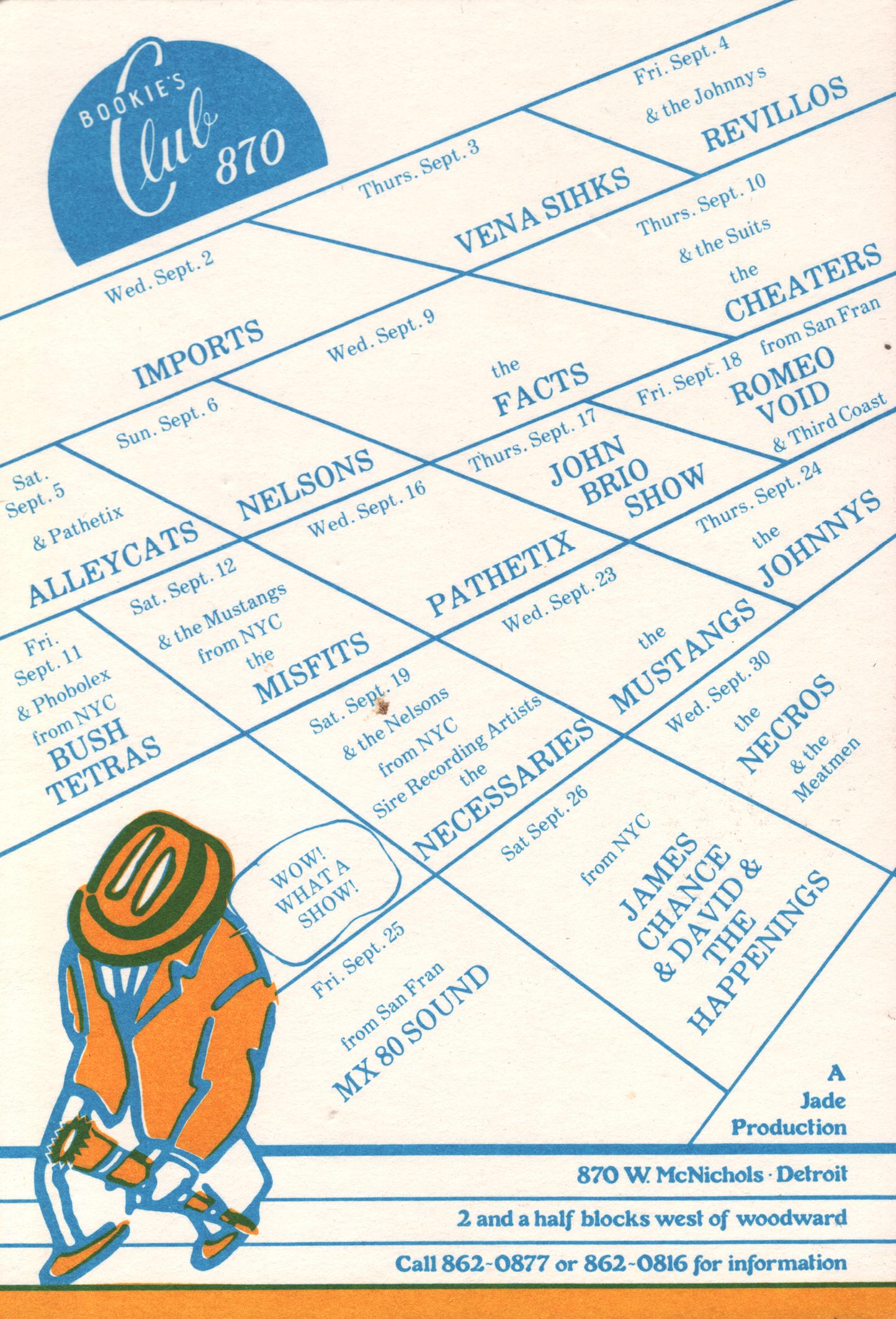 Bookie's Club 870 – Detroit Punk Archive
