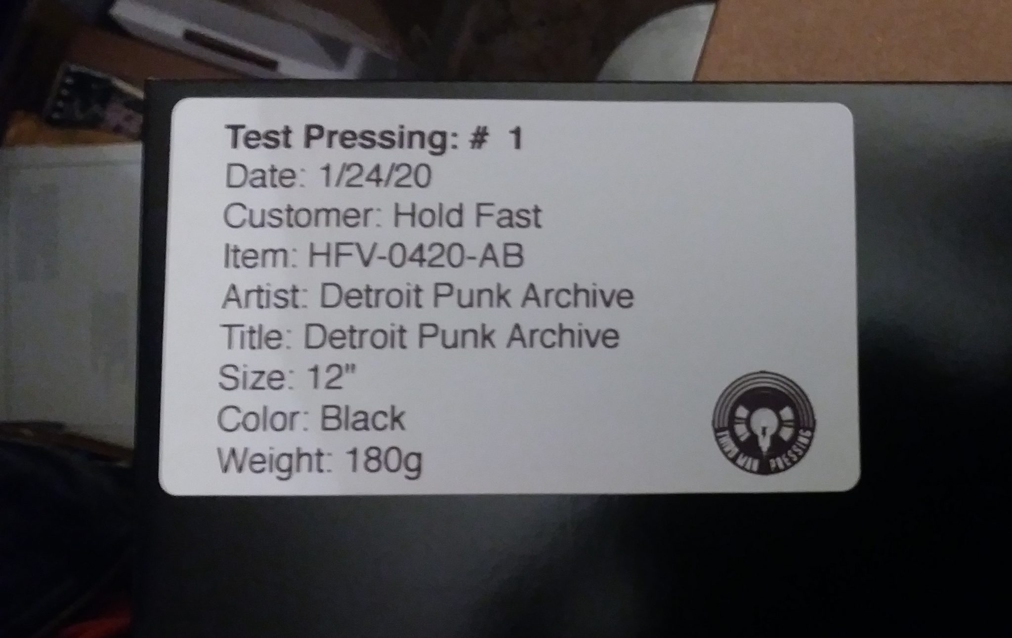 Test Press Pic 1