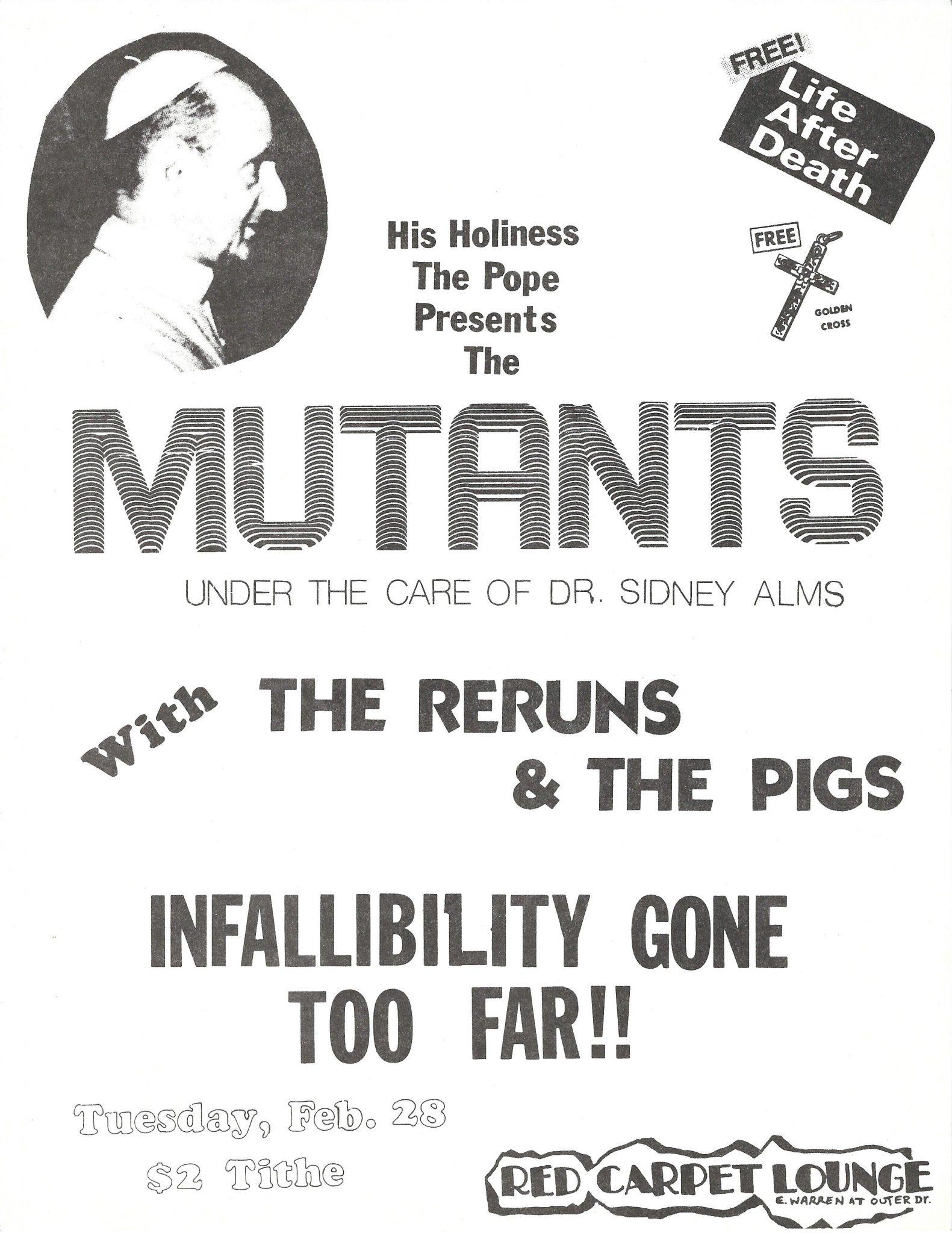 The Reruns Detroit Punk Archive